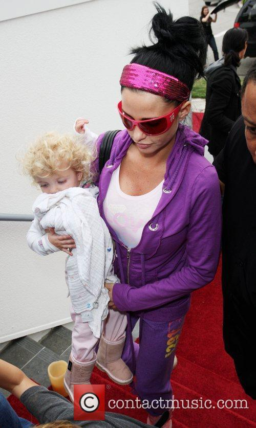 Katie Price and Princess Tiaamii arriving at a guesting suite at the SLS hotel in Beverly Hills. 1