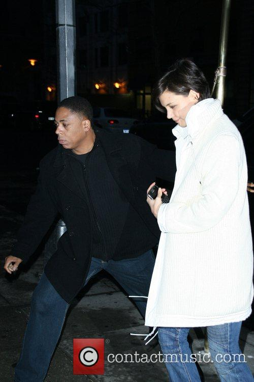 Katie Holmes arrives back at her Manhattan apartment...