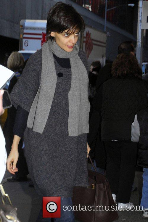 Katie Holmes arrives at the Gerald Schoenfeld Theatre...