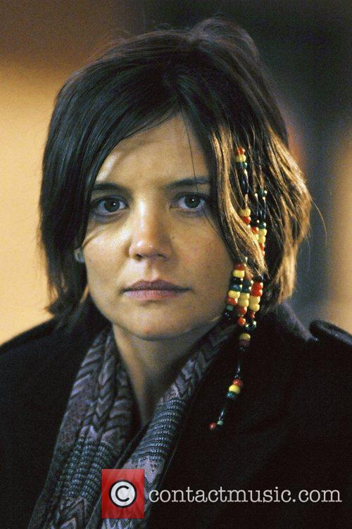 Katie Holmes filming on location in the Russian...