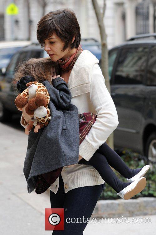 Katie Holmes takes her daughter Suri Cruise to...