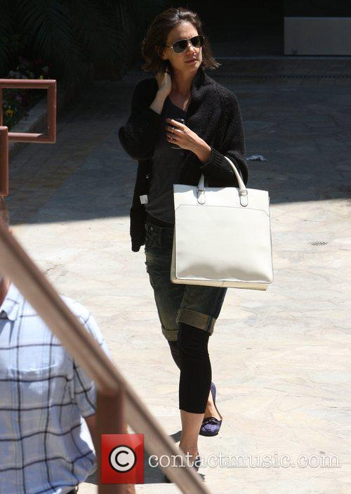 Leaving a dance studio in Hollywood