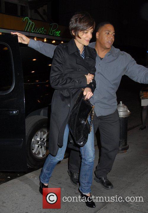 Katie Holmes arrives at the Gerald Schoenfeld theatre...