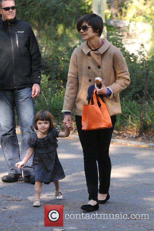 Katie Holmes and her daughter Suri Cruise visit...
