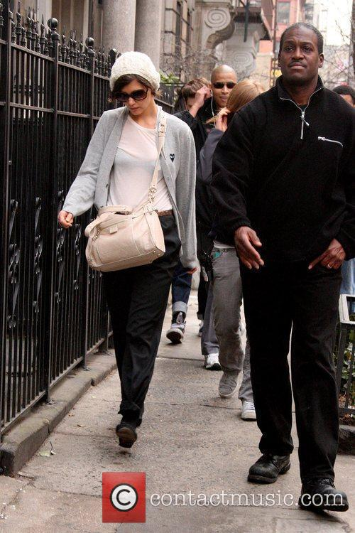 Arriving to the set of her new movie...