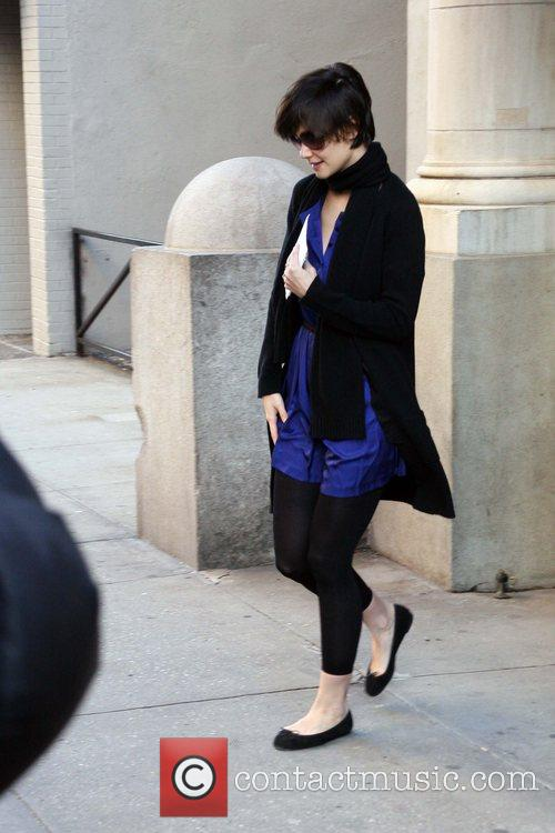 Katie Holmes seen leaving her home. New York...