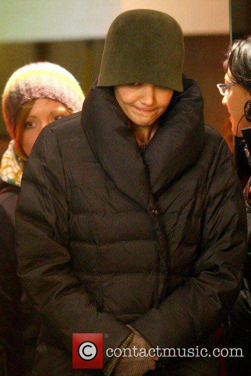 Katie Holmes  on the set of her...