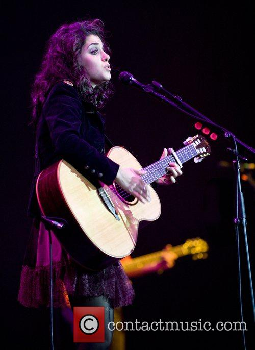 Katie Melua performing live at the O2 Arena...