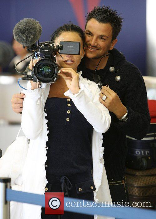 Peter Andre, Katie Price arriving at LAX to catch a flight