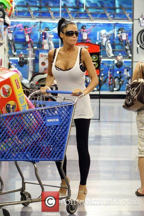 Katie Price does some shopping at Toys R...