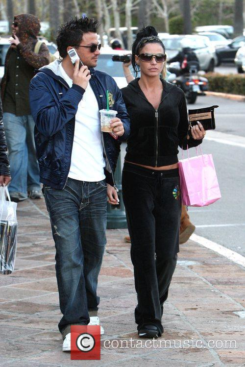 Katie Price and Peter Andre  leave Starbucks...