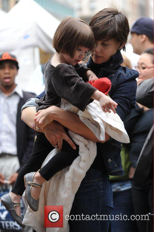 Takes her daughter Suri Cruise to a Manhattan...