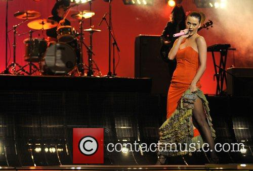 Performs 'I Kissed a Girl' at the 55th...