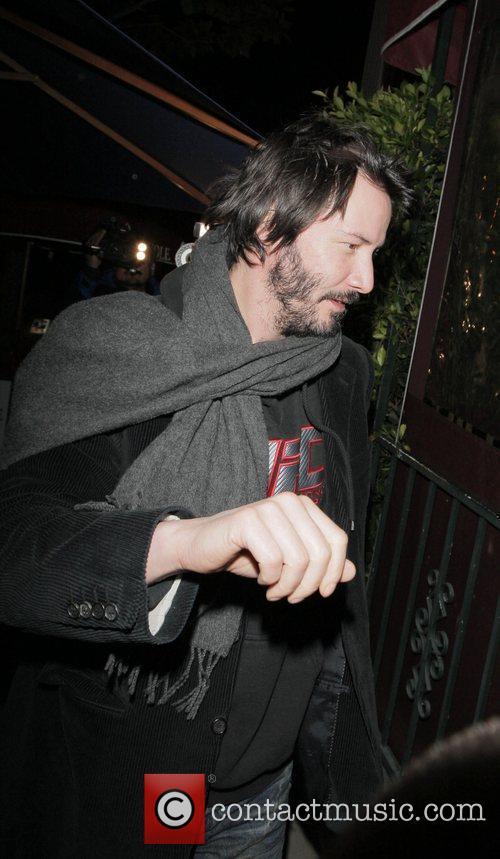 Keanu Reeves leaving Il Sole restaurant Los Angeles,...