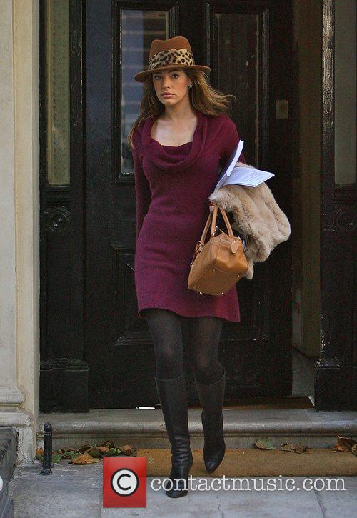 Kelly Brook leaving home this morning on her...