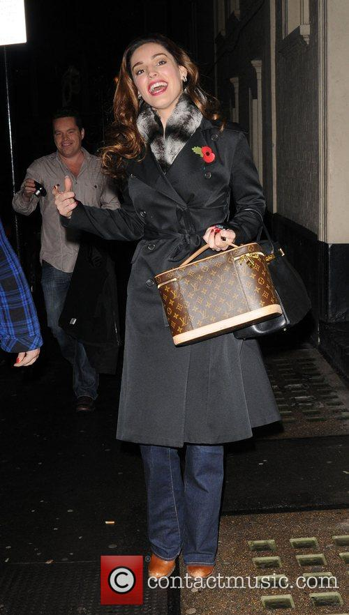 Kelly Brook leaving the Comedy Theatre  London,...