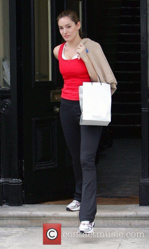 Kelly Brook leaving her house to go to...