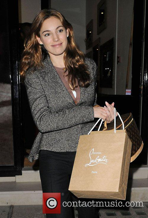 Kelly Brook goes shopping for shoes at Christian...