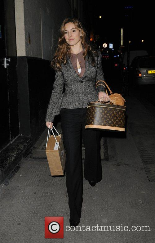Kelly Brook arrives at The Comedy Theatre, to...