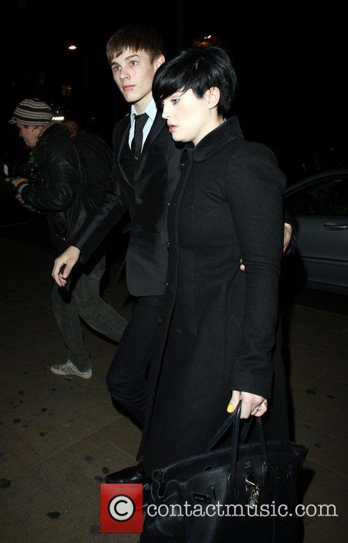 Luke Worrell and Kelly Osbourne arrive at Amika...