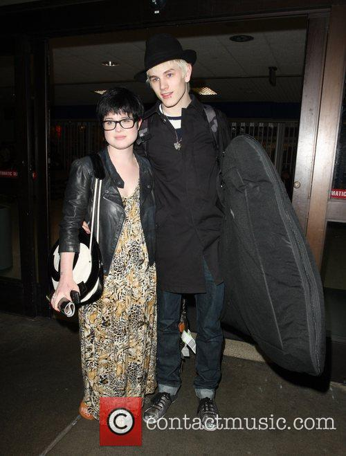 Kelly Osbourne collects her fiance Luke Worrall from...