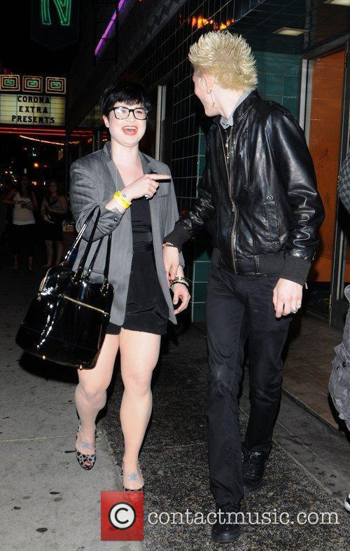 Kelly Osbourne out with fiance Luke Worrall in...
