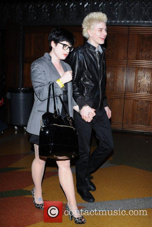 Out with fiance Luke Worrall in Hollywood