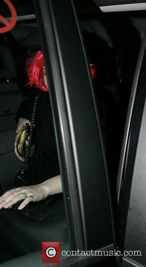 Leaving Kate Moss's daughter, Lila Grace's birthday party,...