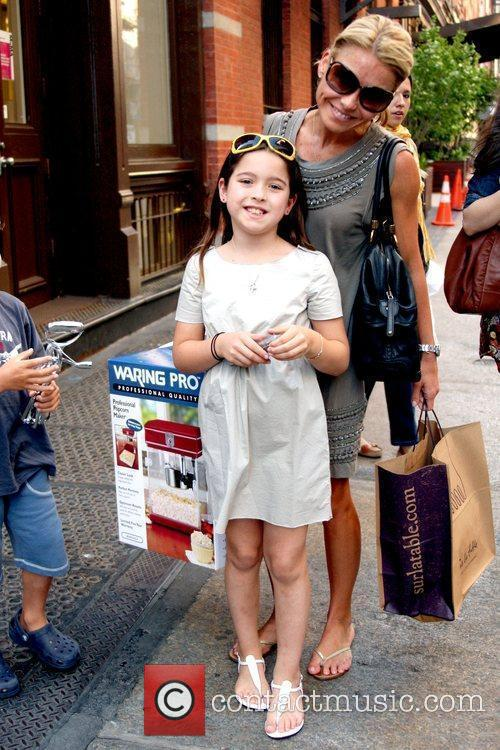 Kelly Ripa shopping in Soho with her children...