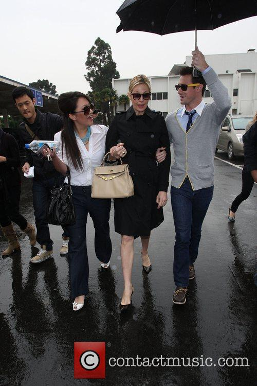 'Gossip Girl' star Kelly Rutherford leaving Santa Monica...