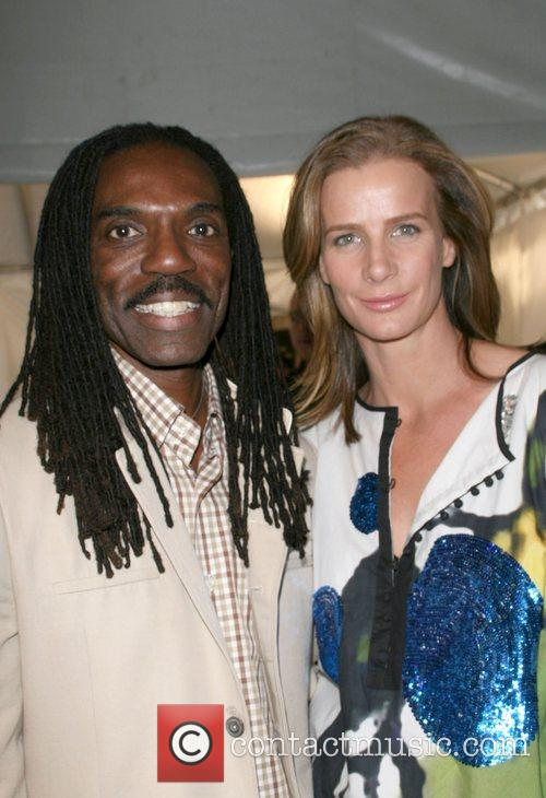 Kevan Hall and Rachel Griffiths attends the Kevan...