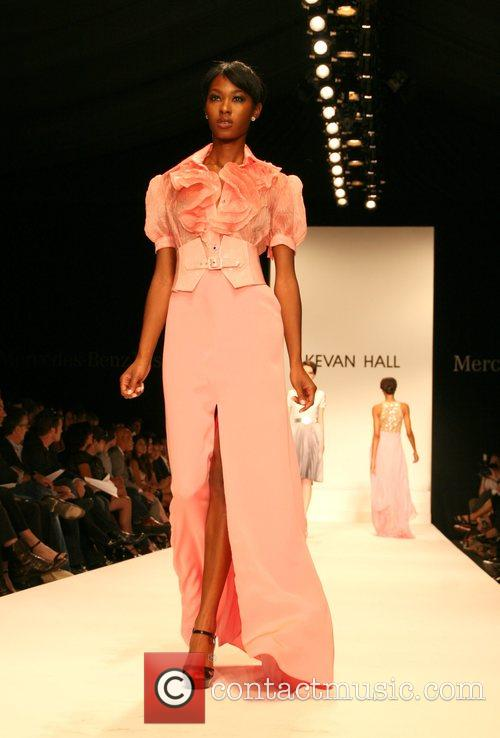 Model attends the Kevan Hall 2008 Spring Collection...
