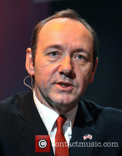 Kevin Spacey speaks at the MOFILM awards during...