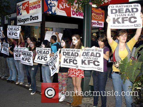 PETA Zombies protest against food chain KFC in...