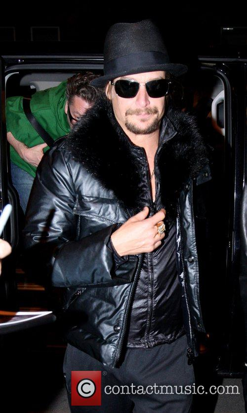 Kid Rock  arriving at Hotel de Rome...