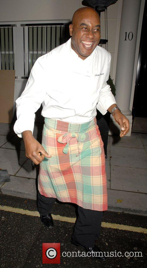 Ainsley Harriot leaving a private party, held at...