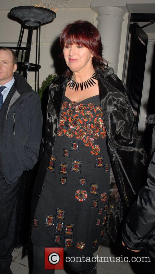 Janet Street Porter leaving a private party, held...