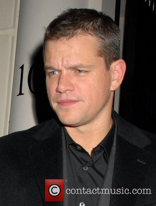 Matt Damon leaving a private party, held at...