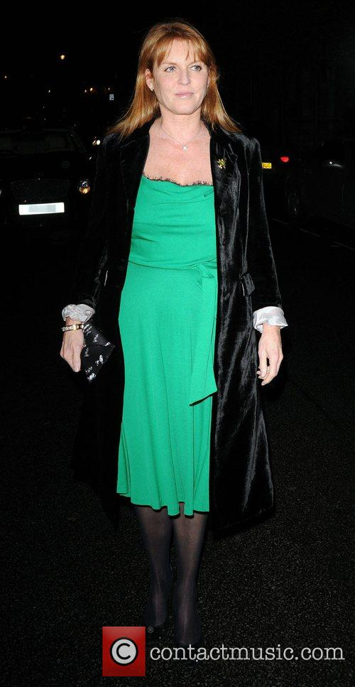 Sarah Ferguson leaving a private party, held at...