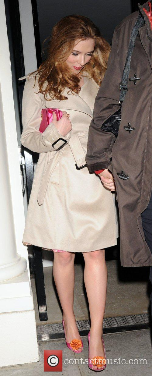 Scarlett Johansson leaving a private party, held at...