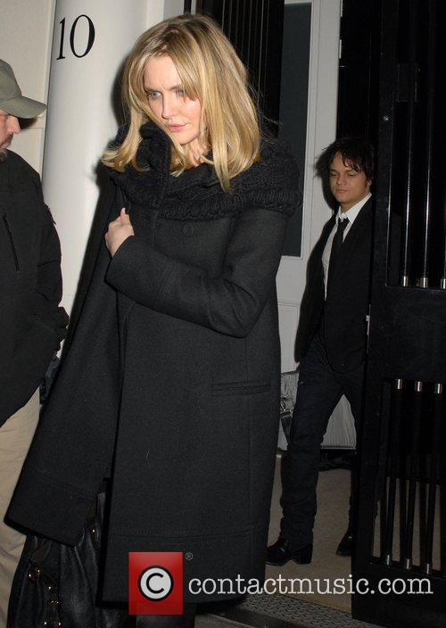 Sophie Dahl and Jamie Cullum leaving a private...