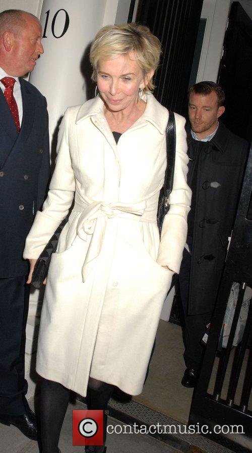 Trudie Styler and Guy Ritchie leaving a private...