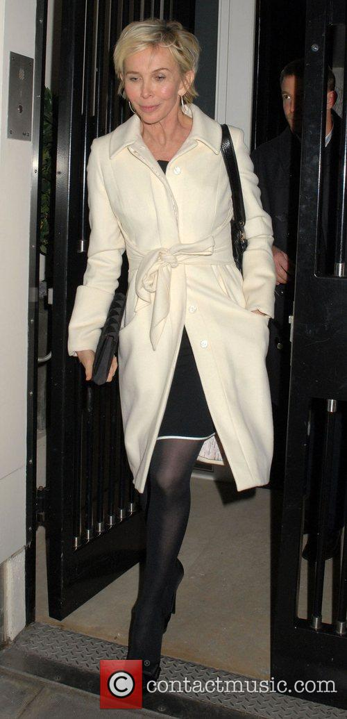 Trudie Styler leaving a private party, held at...