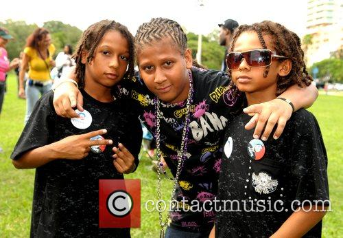 After performing at Kids 4 Obama Family Festival...