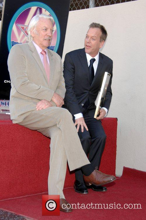 Donald Sutherland and Kiefer Sutherland Kiefer Sutherland receives...
