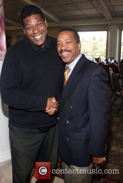 Lawrence Lejohn and Obba Babatunde at Kiki's 1st...