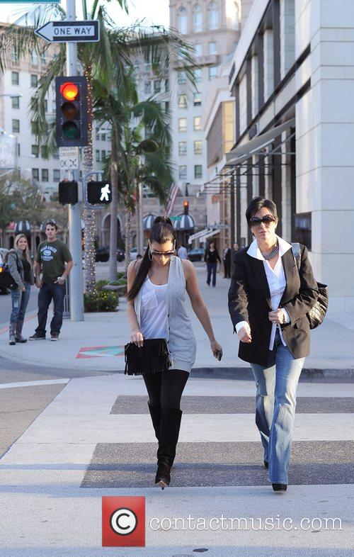 Kim Kardashian and her mother Kris Jenner leaving the Louis Vuitton store in Beverly Hills 7