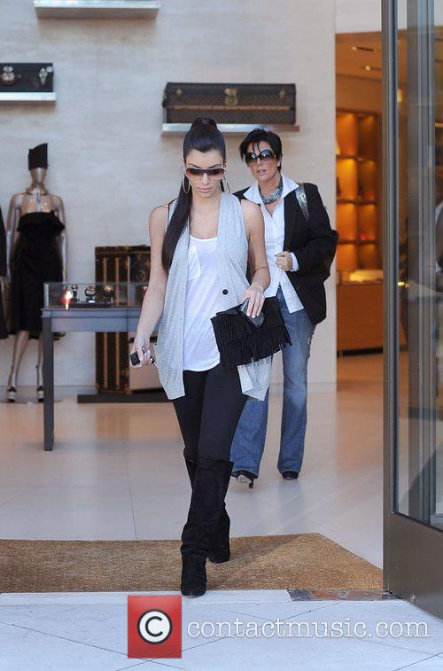 Kim Kardashian and her mother Kris Jenner leaving the Louis Vuitton store in Beverly Hills 8