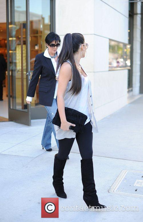 Kim Kardashian and her mother Kris Jenner leaving the Louis Vuitton store in Beverly Hills 1