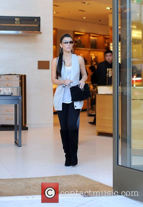 Kim Kardashian and her mother Kris Jenner leaving the Louis Vuitton store in Beverly Hills 3